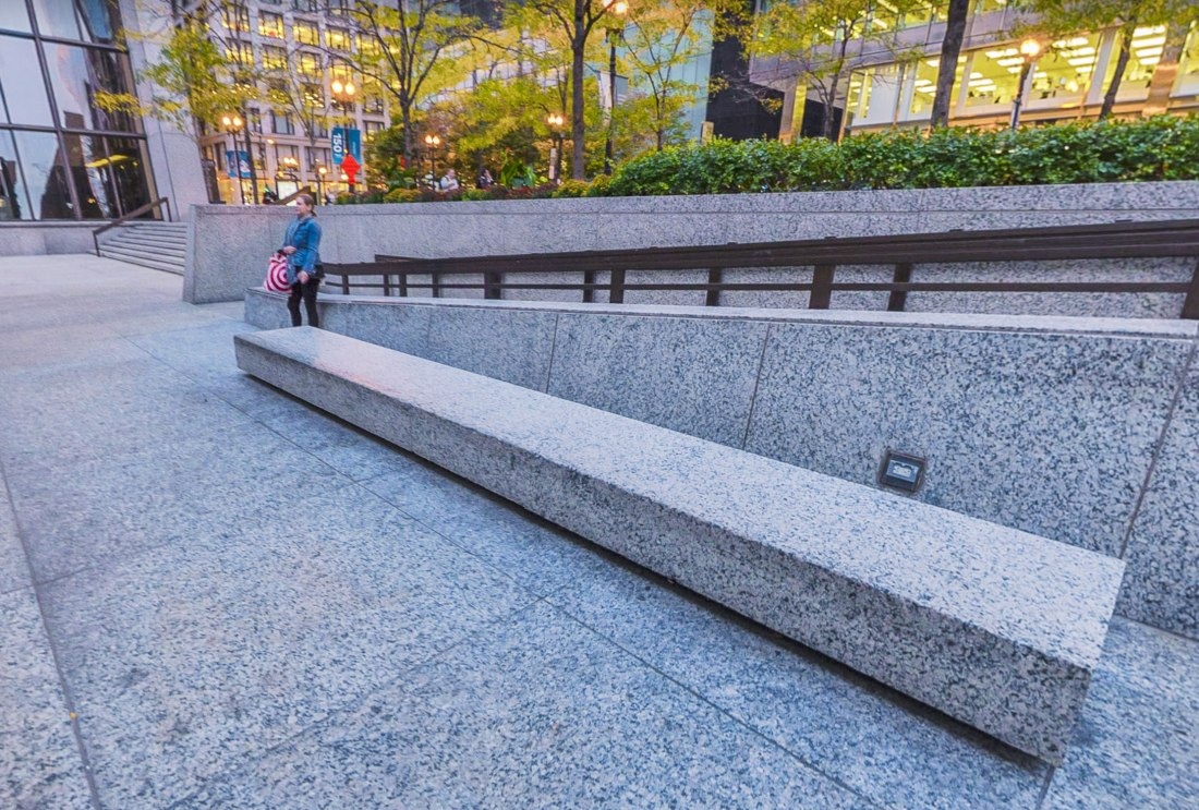 photo of a ledge at chase plaza
