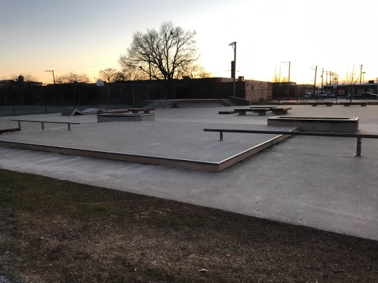 View of Little Village Skatepark in the southside