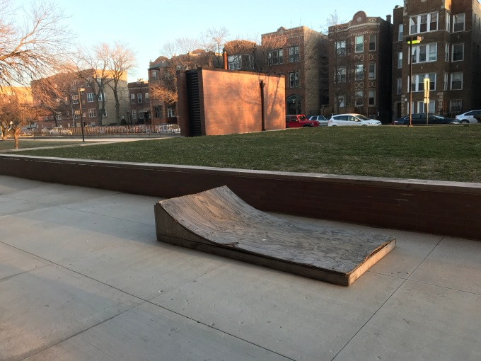 Photo of a D.I.Y. skate ramp