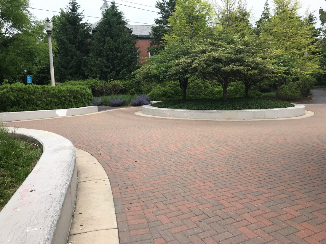 Photo of the circle and ledges in Kiwais Park.